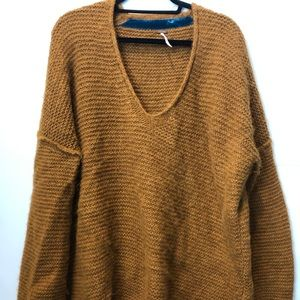 Free People Mustard yellow sweater